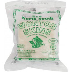 North South Frozen Wonton Skins (Pastry For All Purposes- Green Label) 500g