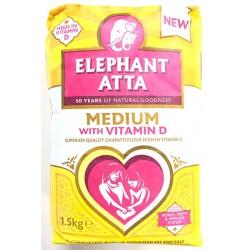 Elephant Atta  Superior Quality Medium Chapatti Flour 1.5kg