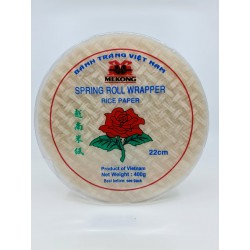 MEKONG 22CM SPRING ROLL WRAPPER ROUND RICE PAPER 400G