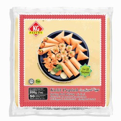 """KG Pastry Frozen 5"""" Spring Roll Pastry (50 Sheets) 200g"""