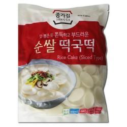 Chongga Korean Rice Cake Sliced 500g Topokki TTeokbokki Fresh Rice Cake