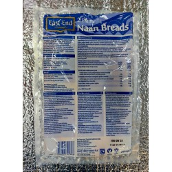 East End 2 Plain Naan Breads 260g