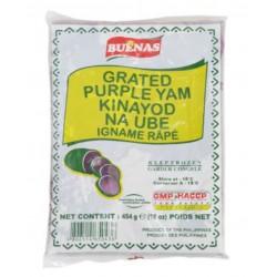 Buenas Grated Ube Purple Yam 454g Frozen Filipino Kinayod Na Ube Igname Râpé Purple Yam