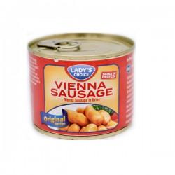 Lady's Choice Smoked Turkey & Chicken Vienna Sausage In Brine 200g