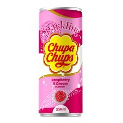 Chupa Chups 250ml Raspberry& Cream Flavour Sparkling Soft Drink