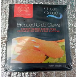 Ocean Classic Breaded Crab Claws 1kg Frozen Breaded Crab Claws