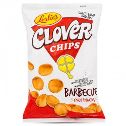 Leslie's snacks - Clover Chips (small) 85g- Barbecue flavour snack