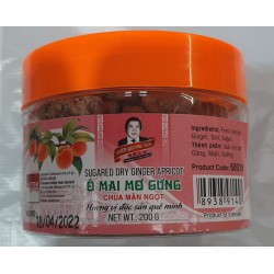 Hieu Quang Yen 200g Sugared Dry Ginger Apricot