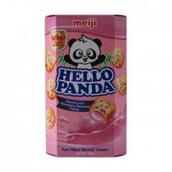 Meiji Hello Panda 50g Biscuits With Strawberry Flavoured...