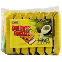 Sunflower Brand Crackers 189g (7x27) Coconut Flavor Cream...
