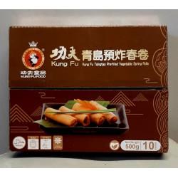 Kung Fu Food 500g Frozen Tsingtao Pre-Fried Vegetable Spring Rolls (10 Pieces)