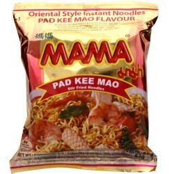 Mama Noodles - 60g Pad Kee Mao Instant Thai Yellow Stir...
