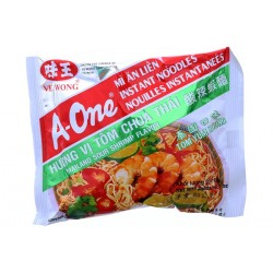 A-One Noodles - Thai Tom Yum Koong Sour Shrimp Flavour Vietnamese Yellow Noodles