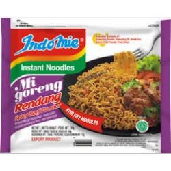 Indomie Noodles - Mi Goreng Rendang Flavour Instant Yellow Indonesian Noodles