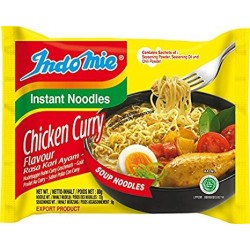 Indomie Chicken Curry Flavour Instant Indonesian Yellow Noodles