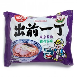 Nissin Noodles - Shoyu Tonkotsu Flavour (出前一丁 東京醬油豬骨味湯麵) Japanese Noodles