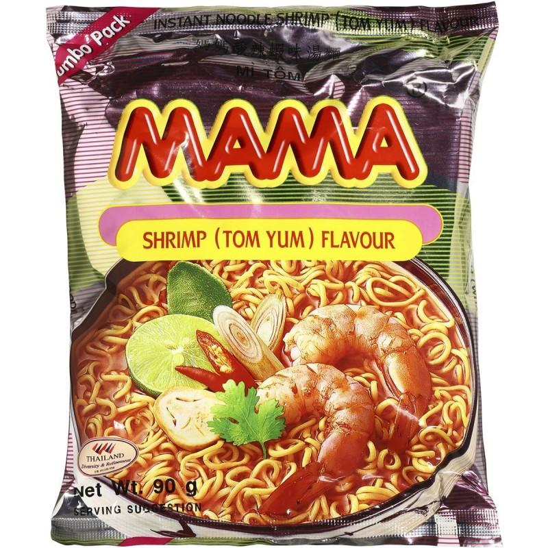 Mama Noodles - Shrimp Tom Yum Flavour Large Pack 90g Thai Noodles