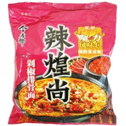 JML Noodles - Spicy Pork Flavour Chinese Yellow Noodles (今麦郎 辣煌尚 剁椒排骨面)