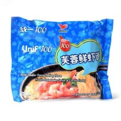 Unif 100 Noodles - 103g Instant Noodle- Furong Shrimp...