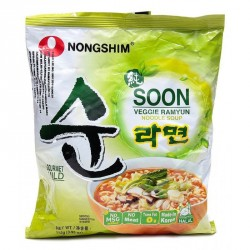 Nong Shim Soon Noodles - Veggie Ramyun (농심 순라면) Korean Noodle Soup