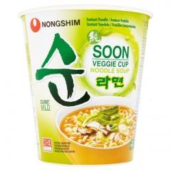 Nong Shim Soon Noodles - Veggie Cup (농심 순라면작은컵) Korean Ramyun Noodle Soup
