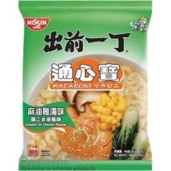 Nissin Noodles - Sesame Oil Chicken Flavour Macaroni (出前一丁 通心寶 麻油雞湯) Hong Kong Noodles